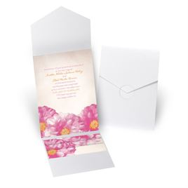 Spanish Poppy - White Shimmer - Pocket Invitation