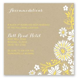 Prairie Floral - Pocket Accommodations Card