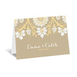 David Tutera Thank You Cards: Prairie Floral Thank You Card