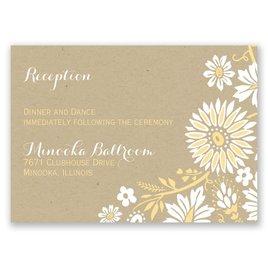 Prairie Floral - Reception Card