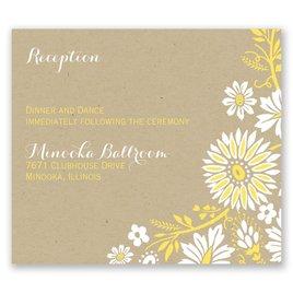 Prairie Floral - Pocket Reception Card