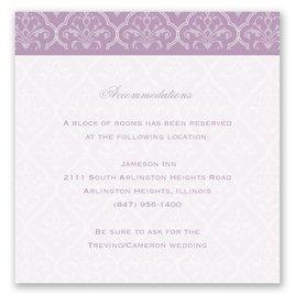 Classic Romance - Pocket Accommodations Card