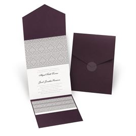 Classic Romance - Eggplant - Pocket Invitation