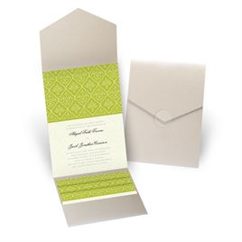 Classic Romance - Gold Shimmer - Pocket Invitation