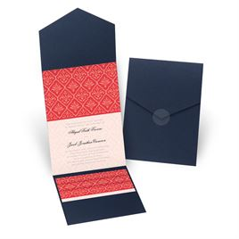 Classic Romance - Navy - Pocket Invitation