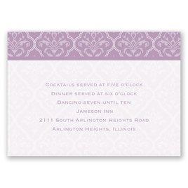 Classic Romance - Reception Card