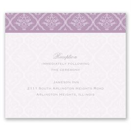 Classic Romance - Pocket Reception Card