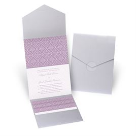 Classic Romance - Silver Shimmer - Pocket Invitation
