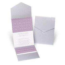 Classic Romance - Silver Shimmer - Pocket Invitation