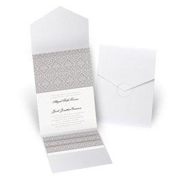 Classic Romance - White Shimmer - Pocket Invitation