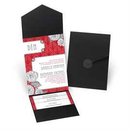 Forever Vintage - Black - Pocket Invitation