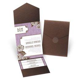 Forever Vintage - Brown Shimmer - Pocket Invitation