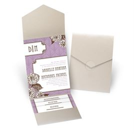 Forever Vintage - Gold Shimmer - Pocket Invitation