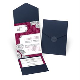 Forever Vintage - Navy - Pocket Invitation