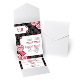 Forever Vintage - White Shimmer - Pocket Invitation