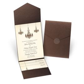 Ballroom Beauty - Brown Shimmer - Pocket Invitation