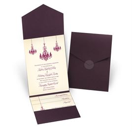 Ballroom Beauty - Eggplant - Pocket Invitation