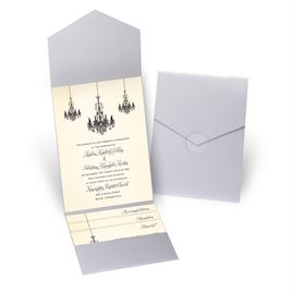 Ballroom Beauty - Silver Shimmer - Pocket Invitation