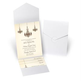 Ballroom Beauty - White Shimmer - Pocket Invitation