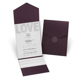 Infinite Glam - Eggplant - Pocket Invitation