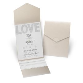Infinite Glam - Gold Shimmer - Pocket Invitation