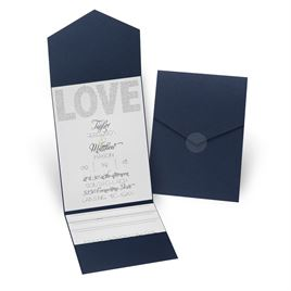 Infinite Glam - Navy - Pocket Invitation