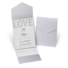 Infinite Glam - Silver Shimmer - Pocket Invitation
