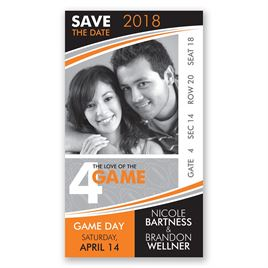 Save The Date Photo Cards: Football Save the Date Card