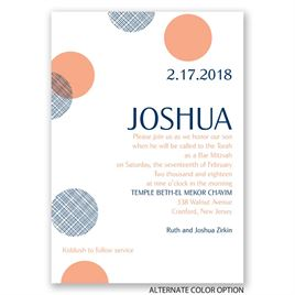 Double Dots - Mitzvah Invitation