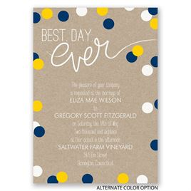 Dazzling Polka Dots - Invitation