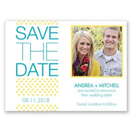 Polka Dot Passion - Save the Date Card