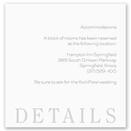 Hotel Info Cards For Wedding Invitations Veenvendelbosch