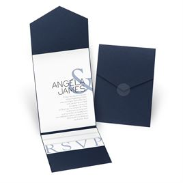 Modern Marvel - Navy - Pocket Invitation