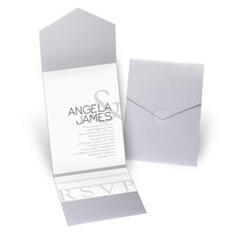 Modern Marvel - Silver Shimmer - Pocket Invitation