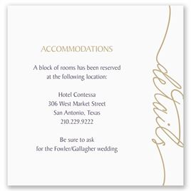 Wedding accommodation cards invitations by dawn wedding accommodation cards pure sophistication pocket accommodations card filmwisefo