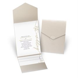 Pure Sophistication - Gold Shimmer - Pocket Invitation