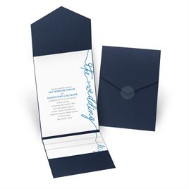 Pure Sophistication - Navy - Pocket Invitation