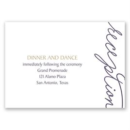 Pure Sophistication - Reception Card