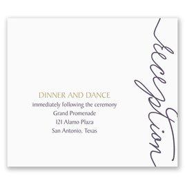 Pure Sophistication - Pocket Reception Card