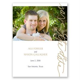 Pure Sophistication - Save the Date Card