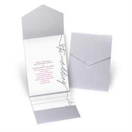 Pure Sophistication - Silver Shimmer - Pocket Invitation