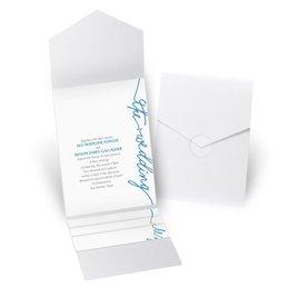 Pure Sophistication - White Shimmer - Pocket Invitation