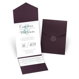 Distinct Style - Eggplant - Pocket Invitation