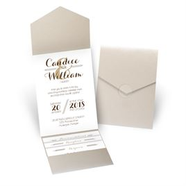 Distinct Style - Gold Shimmer - Pocket Invitation