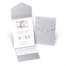 Distinct Style - Silver Shimmer - Pocket Invitation