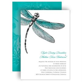 Teal Wedding Invitations: 