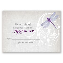 Dragonfly Pair - Response Card