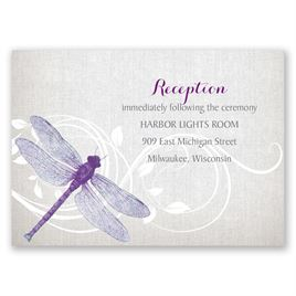 Dragonfly Pair - Reception Card