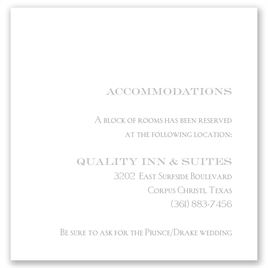 Simply Refined - Pocket Accommodations Card