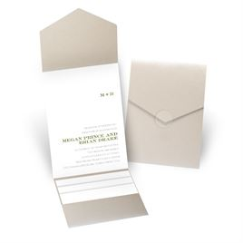 Simply Refined - Gold Shimmer - Pocket Invitation